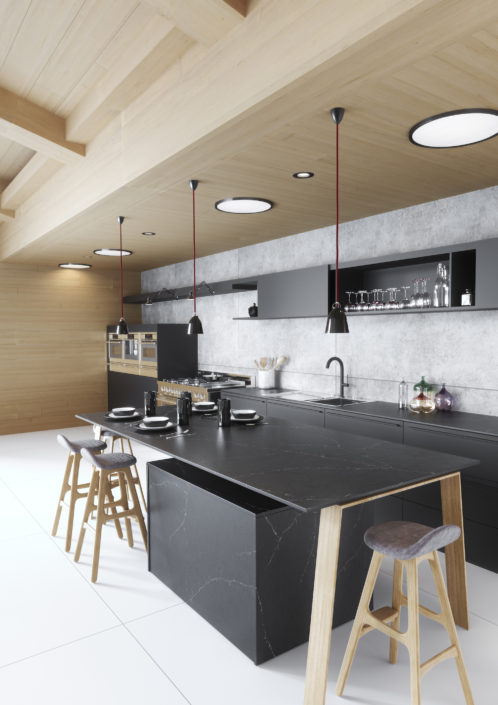 Silestone-Kitchen-Europea-Eternal-Charcoal-Soapstone